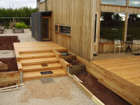 Yellow Stringy Decking 100 x 19mm Project