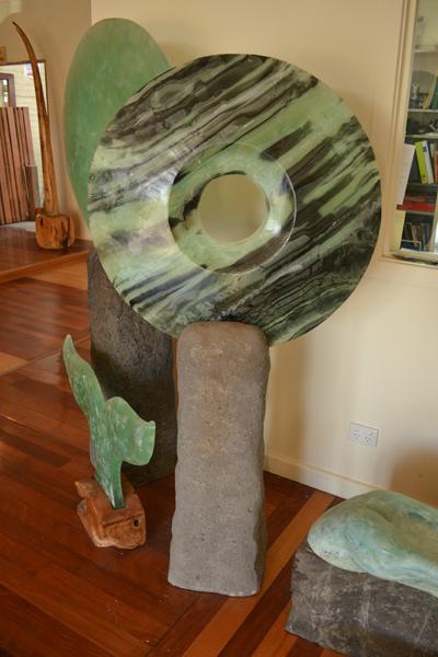 Glass Disc Garden Art