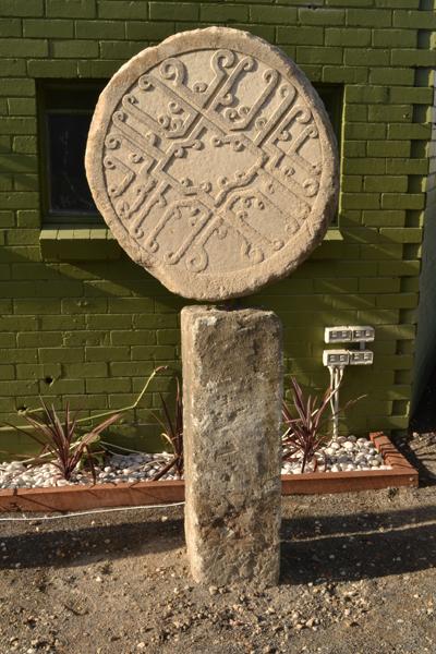 Stone Discs Garden Art