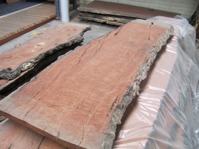Redgum Slabs Natural Edge