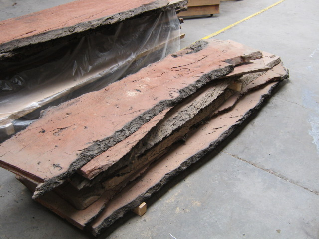 Redgum Slabs Burnt Edge