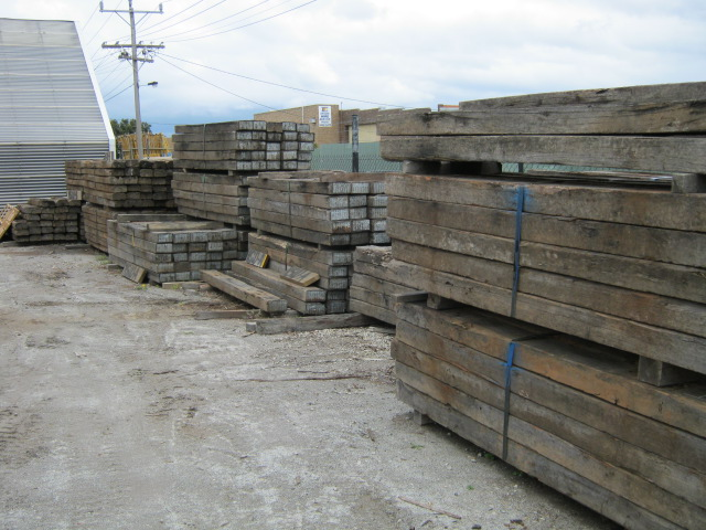 Recycled Ironbark Railway Sleepers Outlast Timber