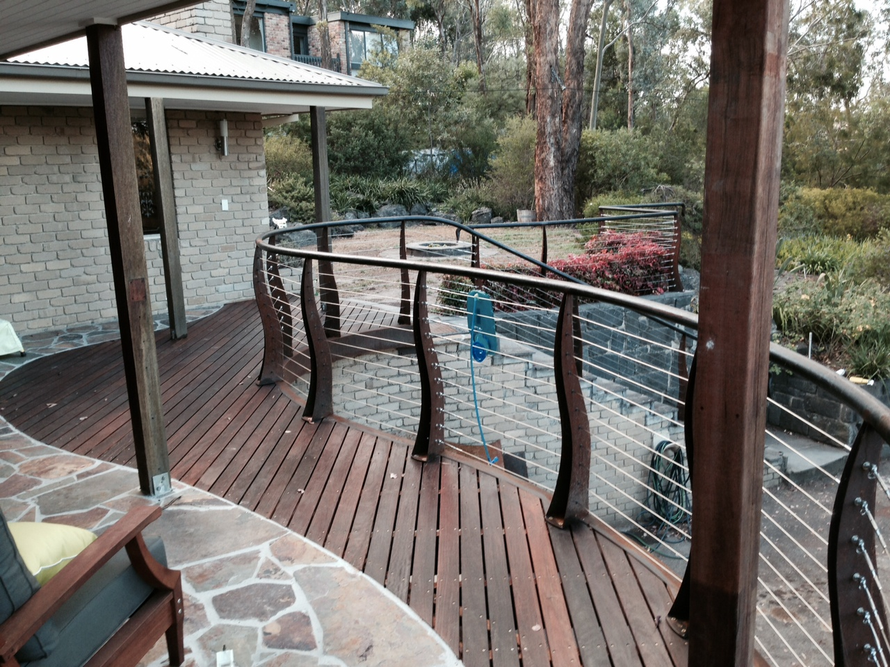 Ironbark Decking on Balcony 86 x 19mm
