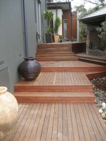 Southern Mahogany Decking Project